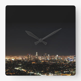 Los Angeles Night Square Wall Clock
