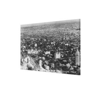 Los Ángeles, opinión de CA de Hollywood Hills Impresión En Lona Estirada