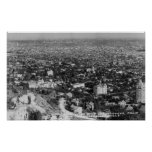 Los Ángeles, opinión de CA de Hollywood Hills Poster