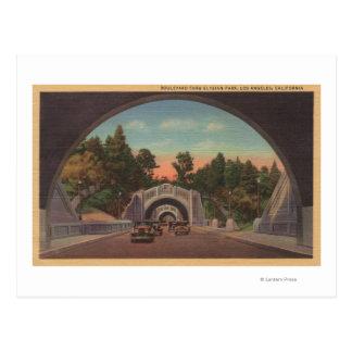 Los Ángeles, opinión de CATunnel del parque elíseo Tarjetas Postales