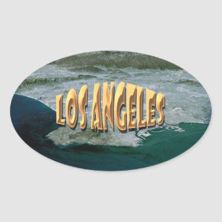 Los Angeles Oval Sticker