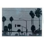 Los Angeles Palm Trees Card