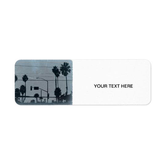 Los Angeles Palm Trees Label