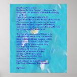 Los ángeles pasan a través del poster del poema de