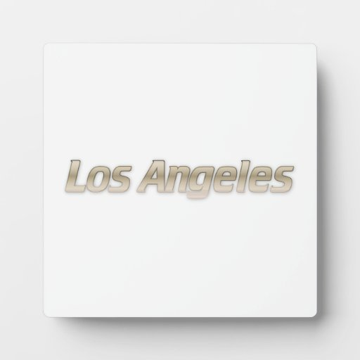 Los Angeles Photo Plaque