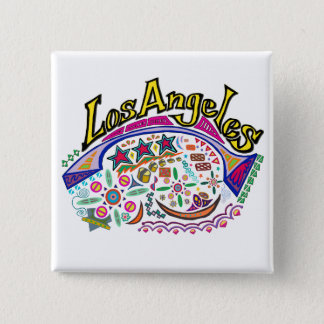 """Los Angeles Playful"" Button! Pinback Button"