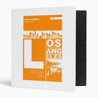 Los Angeles Poster in Orange color Vinyl Binder
