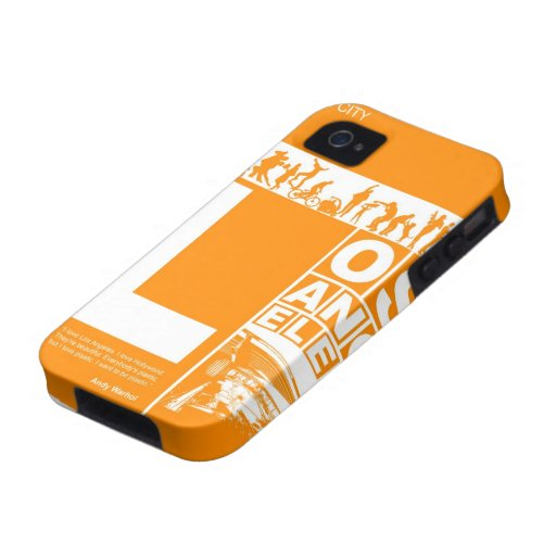 Los Angeles Poster in Orange color Vibe iPhone 4 Case