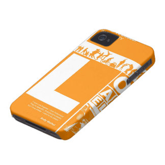 Los Angeles Poster in Orange color iPhone 4 Case