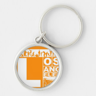 Los Angeles Poster in Orange color Keychain