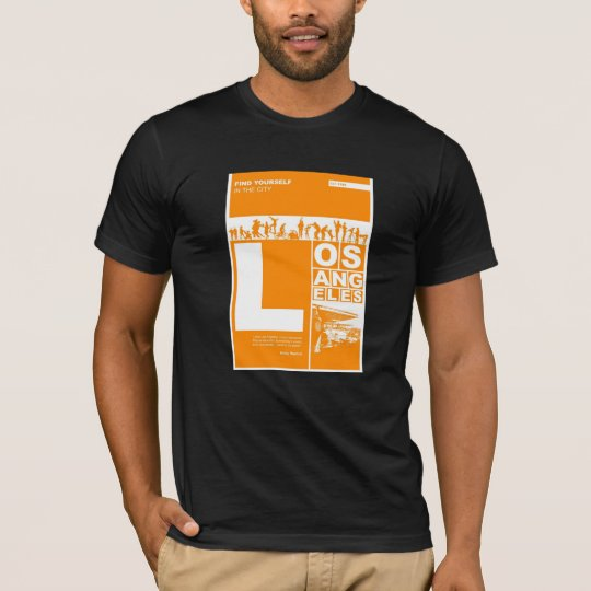 Los Angeles Poster in Orange color T-Shirt