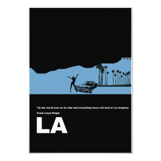 "Los Angeles Poster 5"" X 7"" Invitation Card"