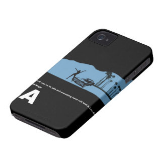 Los Angeles Poster iPhone 4 Case