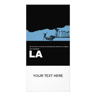 Los Angeles Poster Personalized Photo Card