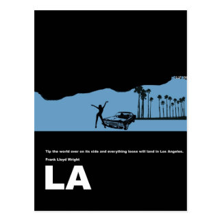Los Angeles Poster Postcard