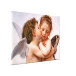 Los ángeles primero se besan, Bouguereau Impresión En Lienzo Estirada