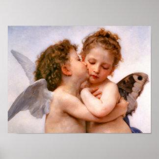 Los ángeles primero se besan, Bouguereau Poster