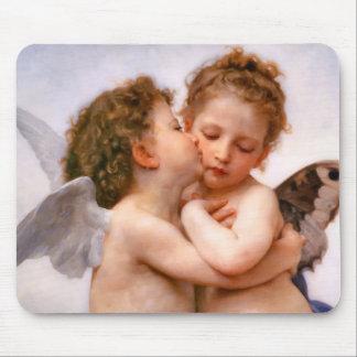 Los ángeles primero se besan, Bouguereau Alfombrilla De Raton