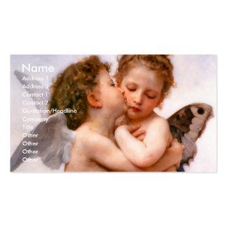 Los ángeles primero se besan, Bouguereau Tarjeta De Visita