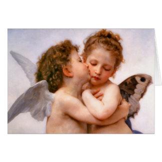 Los ángeles primero se besan, Bouguereau Tarjeta Pequeña