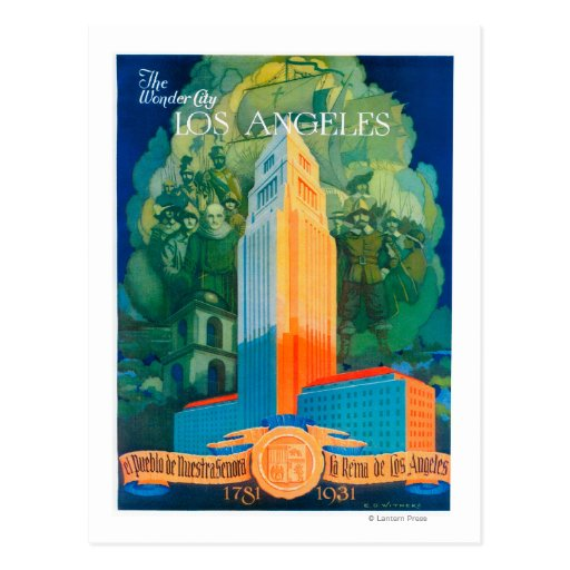 Los Angeles Promotional Poster Postcard
