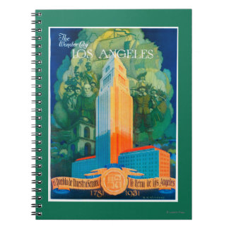 Los Angeles Promotional Poster Spiral Notebook