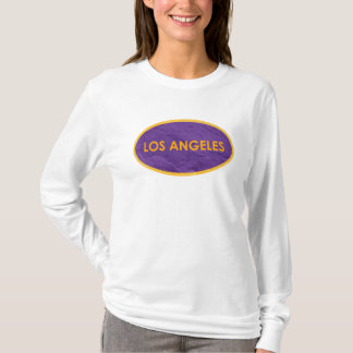 Los Angeles Purple and Orange Oval T-Shirt