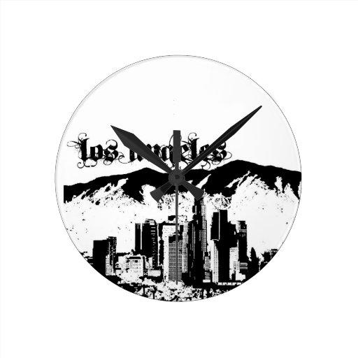 Los Ángeles puso para su ciudad Reloj De Pared