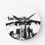 Los Angeles put on for your city Round Wall Clock