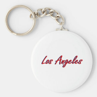 Los Angeles Red and Blue Keychains