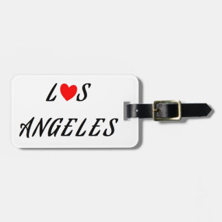 Los Angeles red heartwood of beech Bag Tag