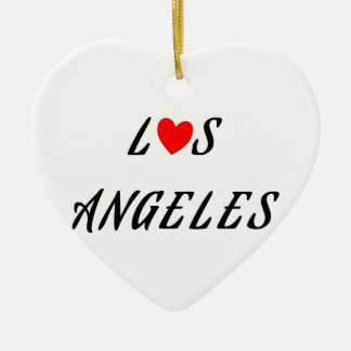 Los Angeles red heartwood of beech Ceramic Ornament