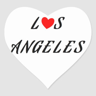 Los Angeles red heartwood of beech Heart Sticker