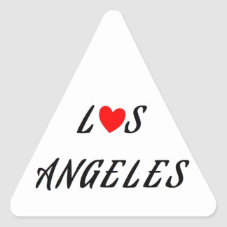 Los Angeles red heartwood of beech Triangle Sticker