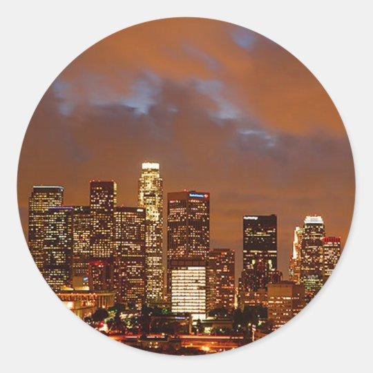 Los Angeles Red Skies Classic Round Sticker