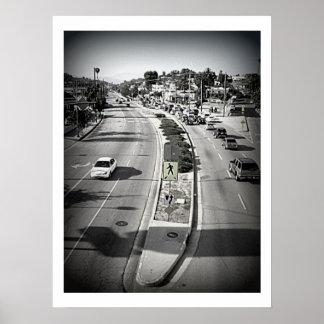 Los Angeles Retro Look Poster