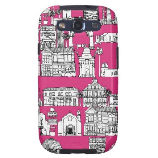 Los Ángeles/rosa Carcasa Para Samsung Galaxy SIII