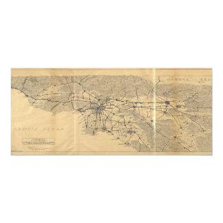 Los Angeles & San Gabriel Mountains Map (1915) Card