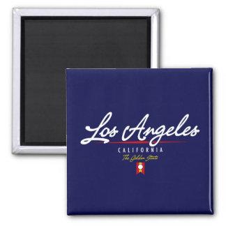 Los Angeles Script 2 Inch Square Magnet