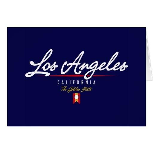 Los Angeles Script Greeting Card