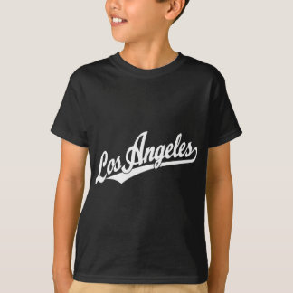 Los Angeles script logo in white T-Shirt