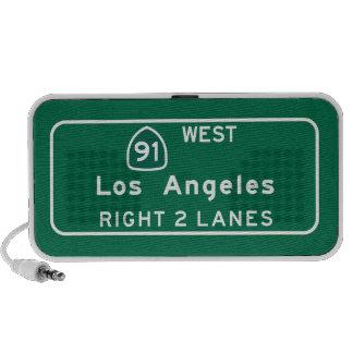 Los Ángeles, señal de tráfico de CA Portátil Altavoz