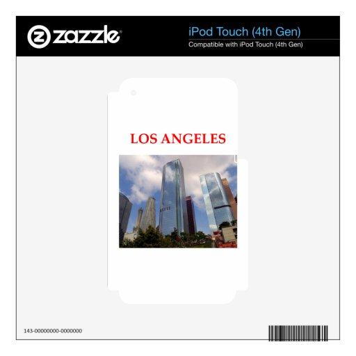 los angeles skin for iPod touch 4G