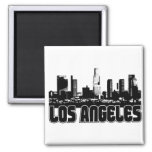 Los Angeles Skyline 2 Inch Square Magnet