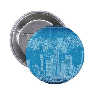 Los Angeles Skyline Blueprint Buttons