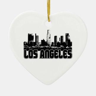 Los Angeles Skyline Ceramic Ornament