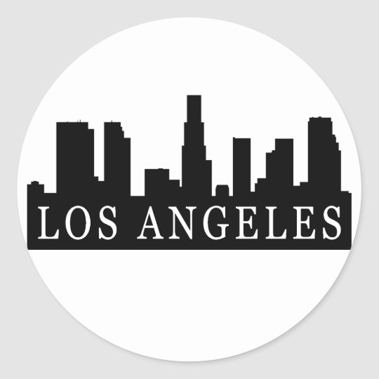 Los Angeles Skyline Classic Round Sticker