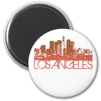 Los Angeles Skyline Design 2 Inch Round Magnet