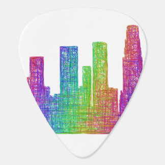 Los Angeles skyline Guitar Pick