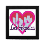 Los Angeles Skyline Heart Gift Boxes